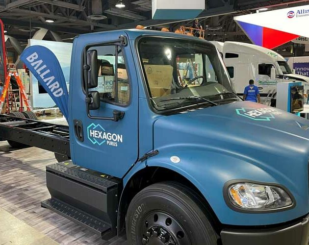 Hexagon Purus and Ballard Power Systems launch Class 6 fuel cell electric truck