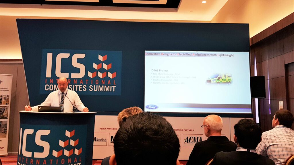 600 people attended each day of the event, and 11 full and standing forum sessions where speakers included GKN Aerospace, Ford, McLaren, Jaguar Land Rover and Vertical Aerospace to name a few. (©JEC Group)