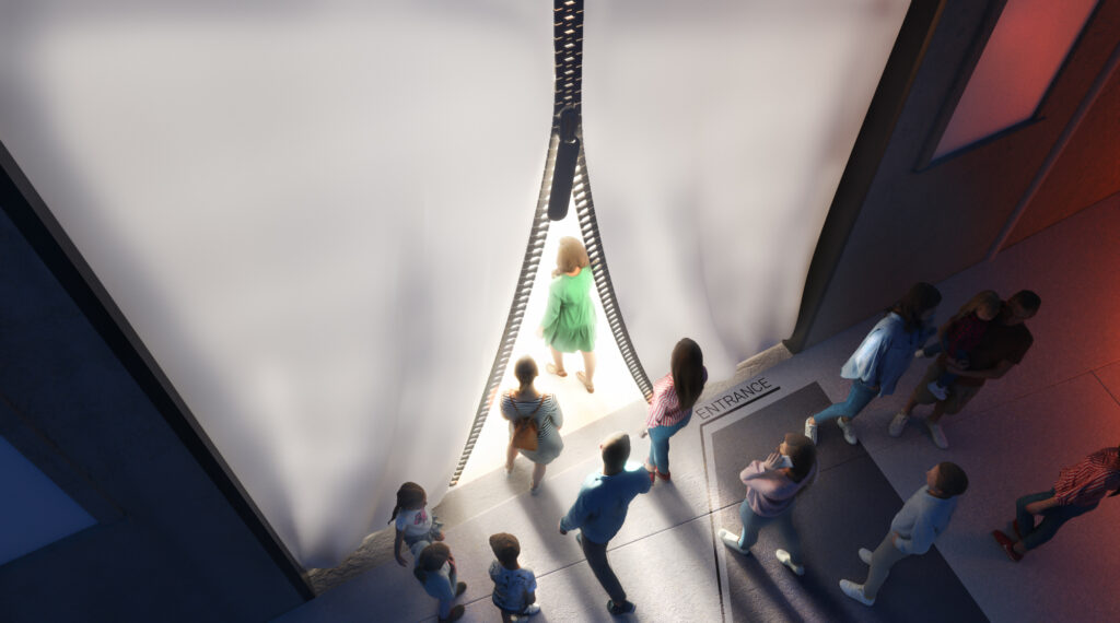 The museum itself will be built largely out of carbon fiber, both new and recycled