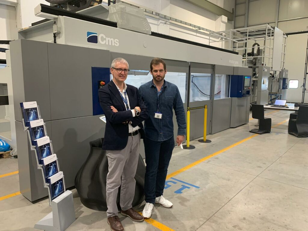 Restomod Kreator: the hybrid machine for 3D printing and milling of composites Bercella used for the Maserati Restomod project