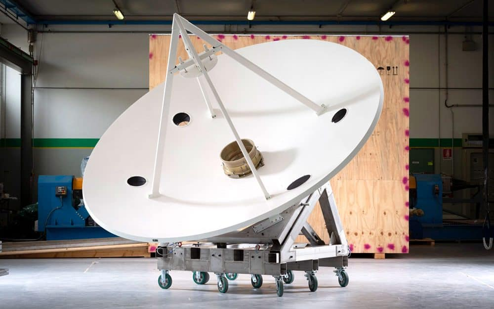 Defense radome: the antenna Bercella manufactured for a foreing cutomer, with surveillance purposes