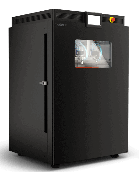 The AON M2+ features a largest-in-class actively heated build volume that provides ungated access to thousands of applications and materials, including PEEK, PEKK, and ULTEM™.