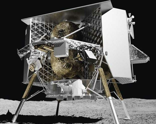 The first 3D printed parts on the moon