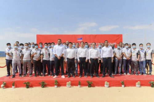 Jushi Egypt laid the foundation for its 120,000-ton glass fiber kiln drawing production line